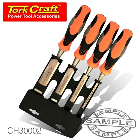 Torkcraft 4 Piece Wood Chisel Set in Blister