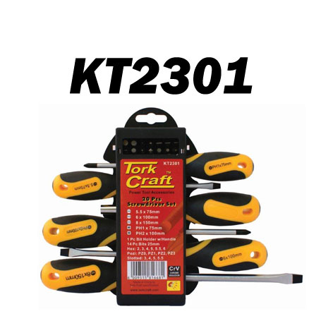 20 Piece Screwdriver Set (KT2301)