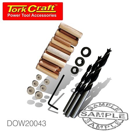 TorkCraft 43 Piece Dowel Kit 6/8/10mm (DOW20043)