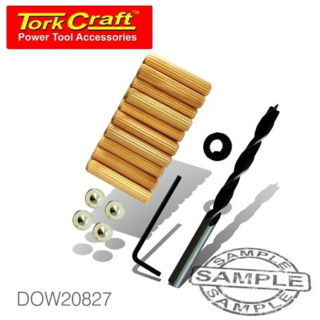 TorkCraft 27 Piece Dowel Kit 8mm (DOW20827)