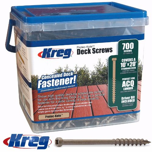 Kreg Protec-Kote Deck Screws 2″ #8 Coarse 700ct