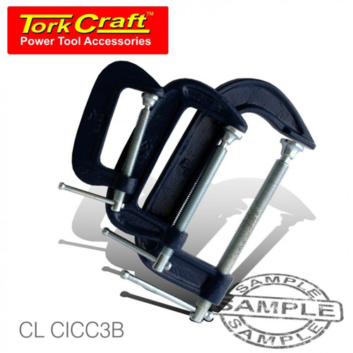 TorkCraft 3 Piece G-Clamp Set 50mm-75mm-101mm (CL CICC3B)