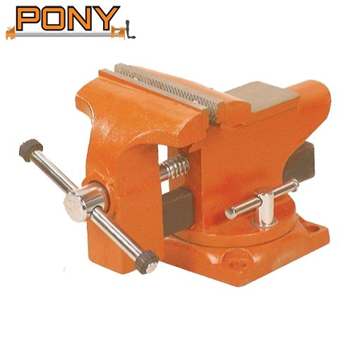 Pony 3.5″ Light-Duty Bench Vise with Swivel Base