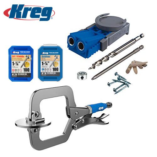 """Kreg Metric R3 Jig Pocket Hole System with Free 2"""" Face Clamp Set"""