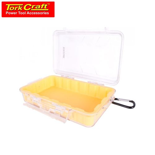 TorkCraft Micro Case Yellow 248 X 160 X 65mm Silicone Liner W/Carabiner Clip (PLC18120)