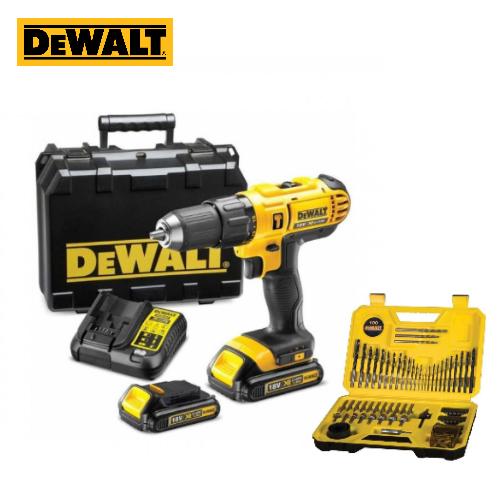 Dewalt DCD776S2 18V XR Li-ion Hammer Drill Driver (2 x 1.5Ah Batteries + 100-Piece Bit Set)